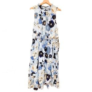 Vince Camuto Dresses - NEW Vince Camuto Floral Ruffle Neck Midi Dress